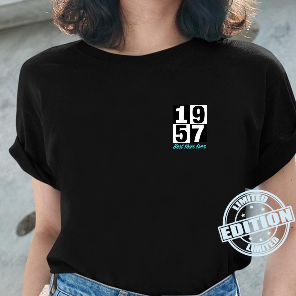 1957 Best Year Ever Born Graduate Marry Heart Placement Shirt ladies tee