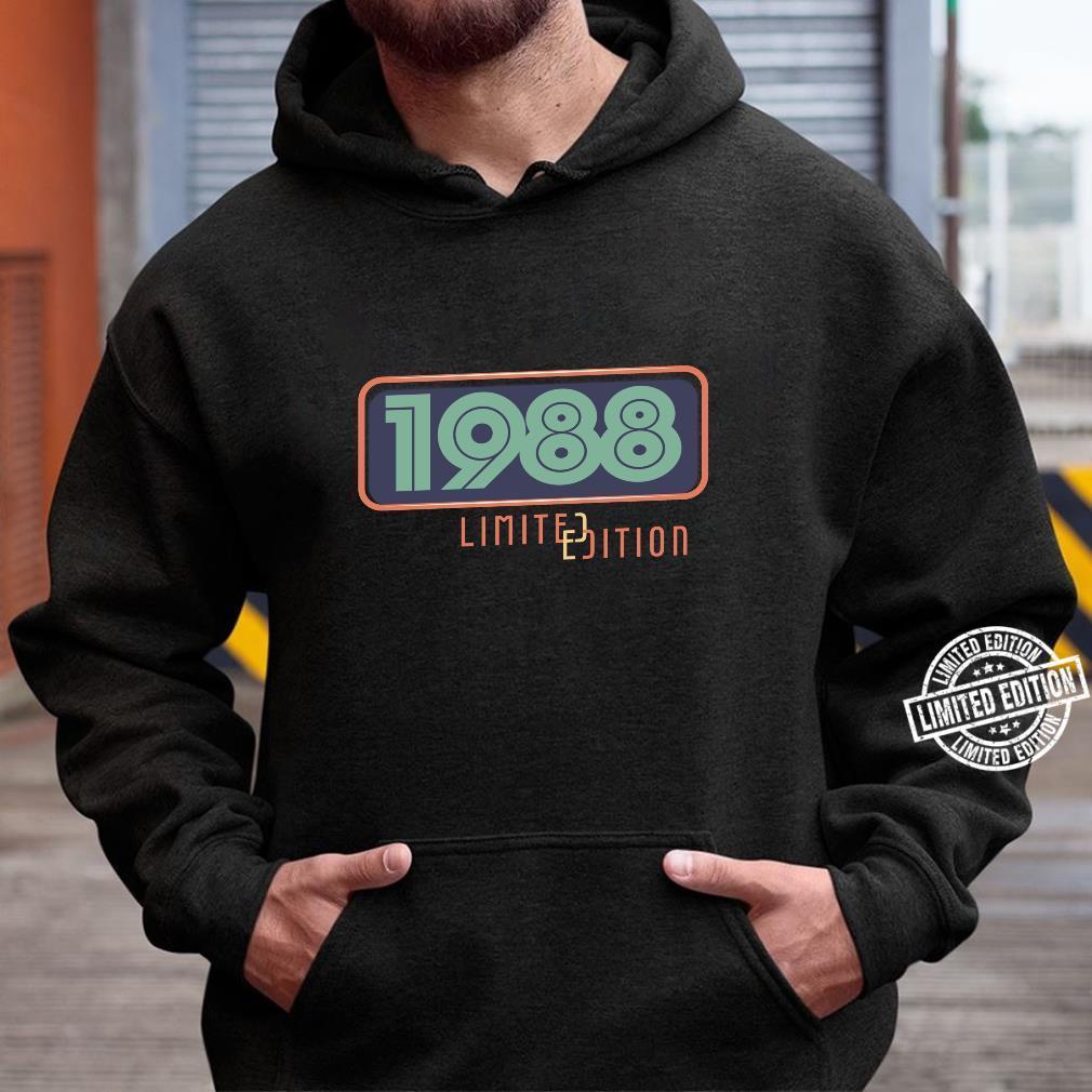 33rd Birthday Man 33 Years Bday Year 1988 Shirt hoodie