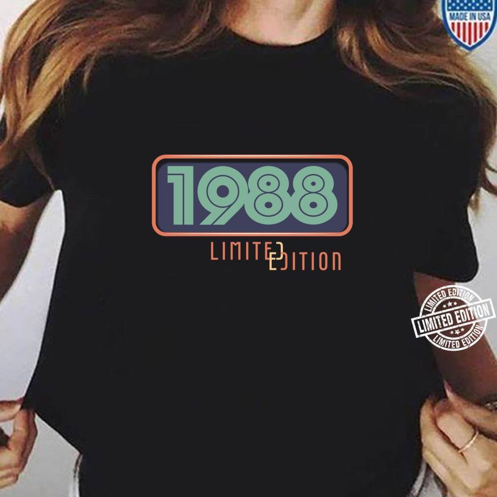 33rd Birthday Man 33 Years Bday Year 1988 Shirt ladies tee