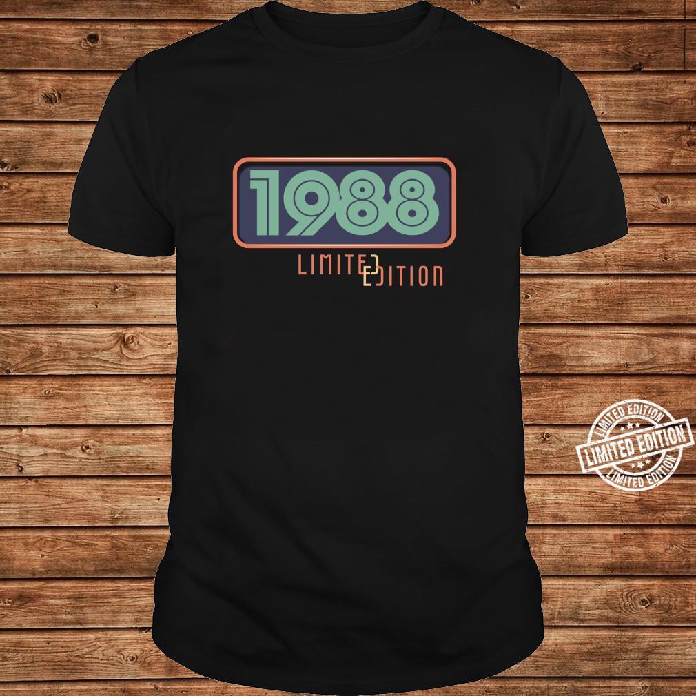 33rd Birthday Man 33 Years Bday Year 1988 Shirt long sleeved