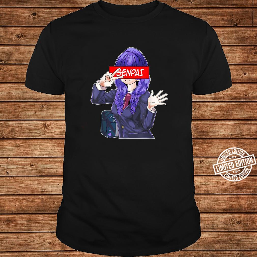 Cute Japanese Anime Girl Notice Me Senpai Anime Shirt long sleeved