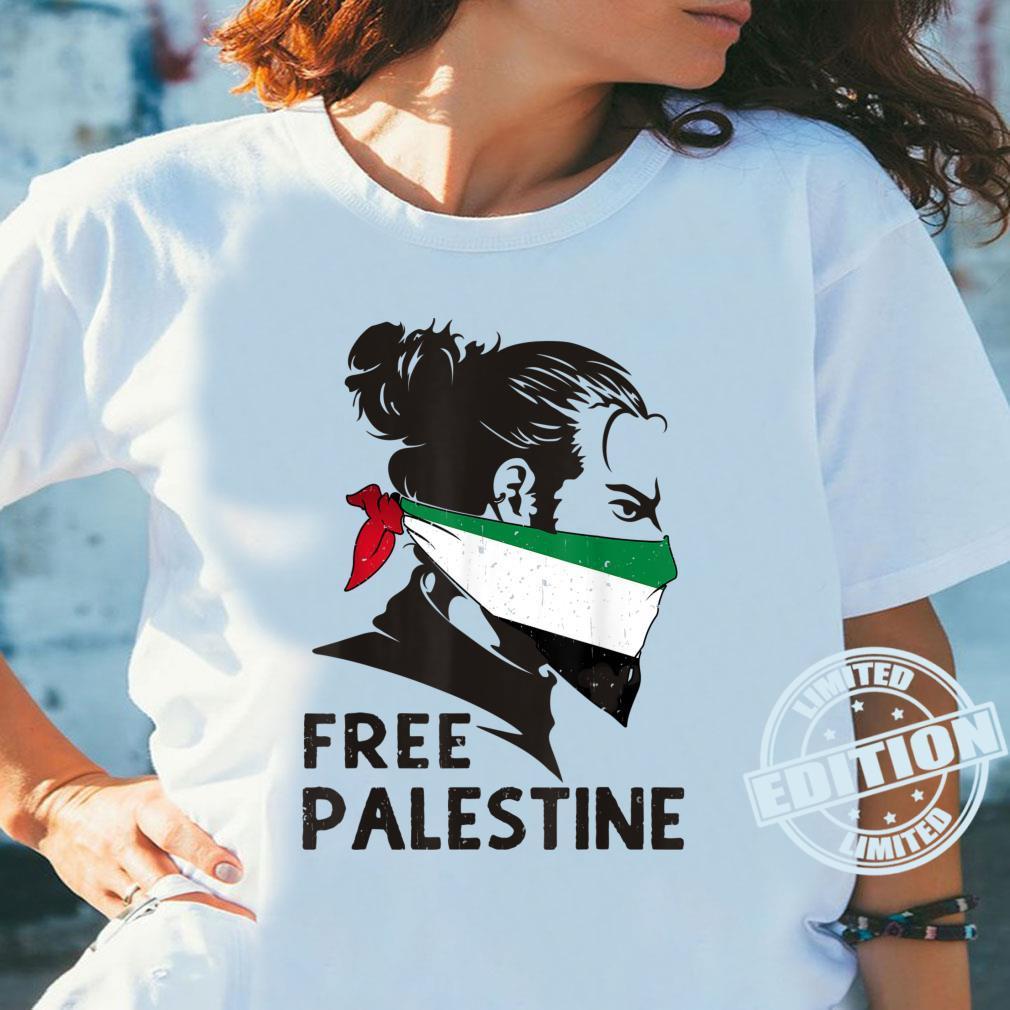 Free Palestine Flag Save Gaza Strip End Occupation Shirt ladies tee