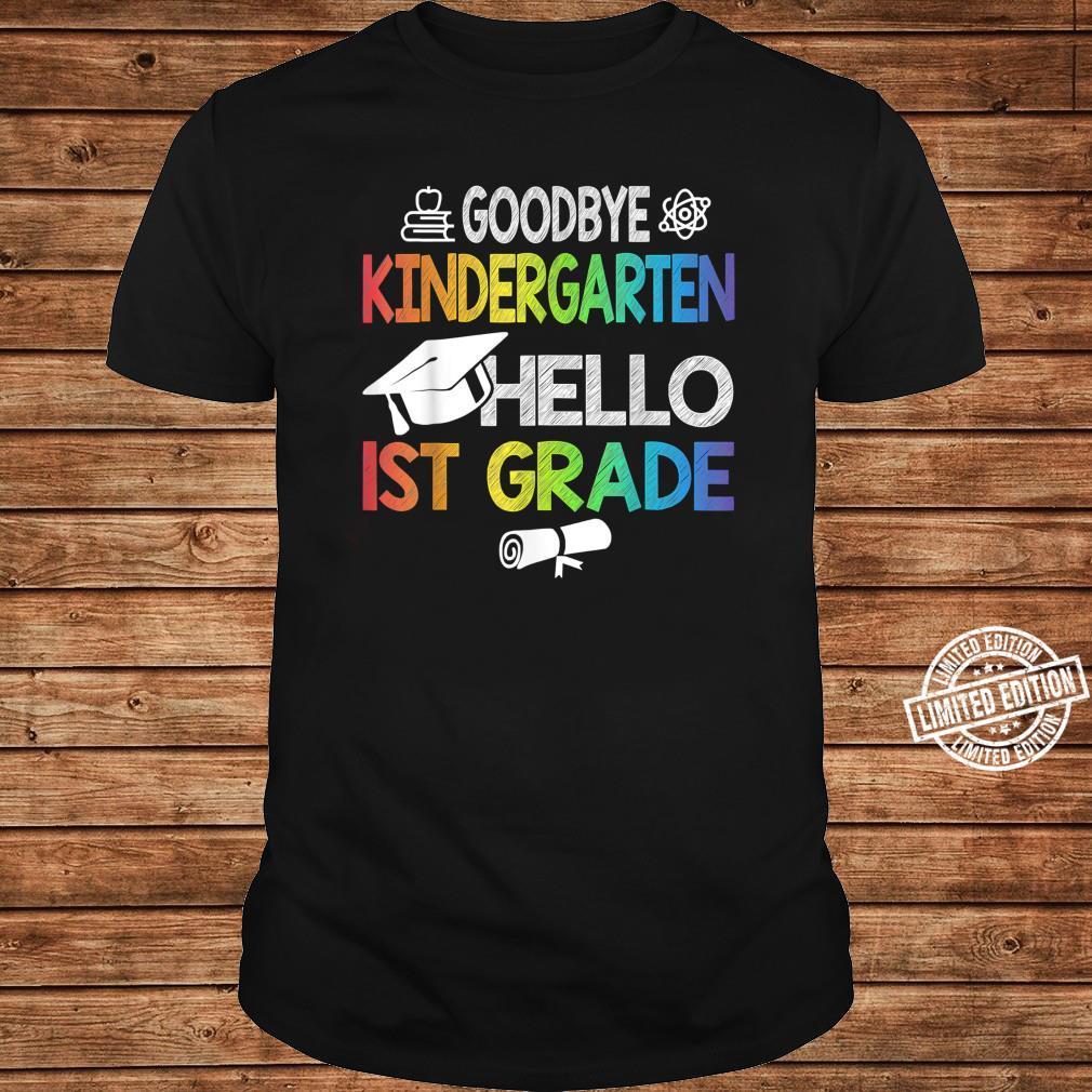 Kindergarten Hello 1st Grade Graduating Class of 2021 Shirt long sleeved