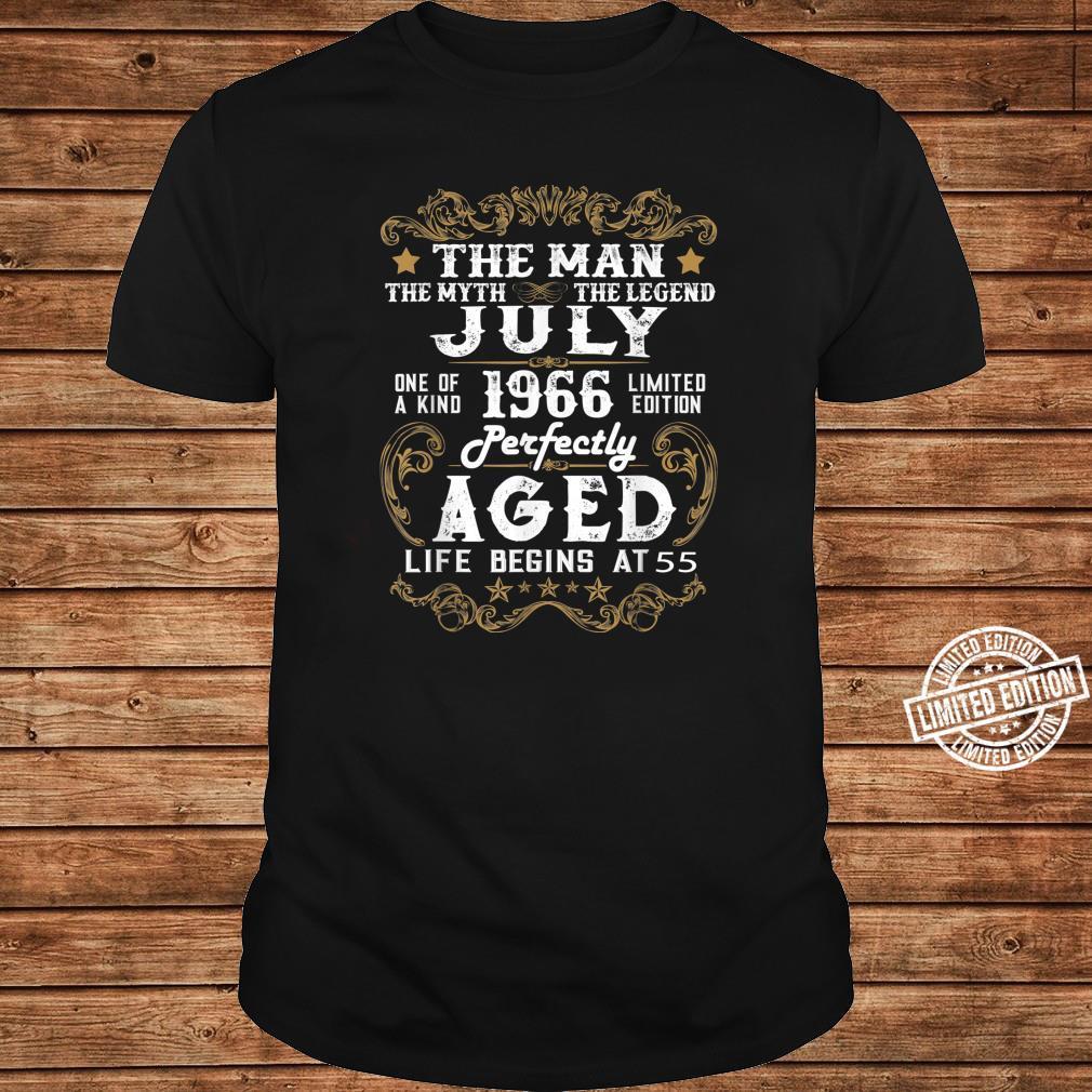 Legends Were Born In July 1966 55th Quarantine Birthday Shirt long sleeved