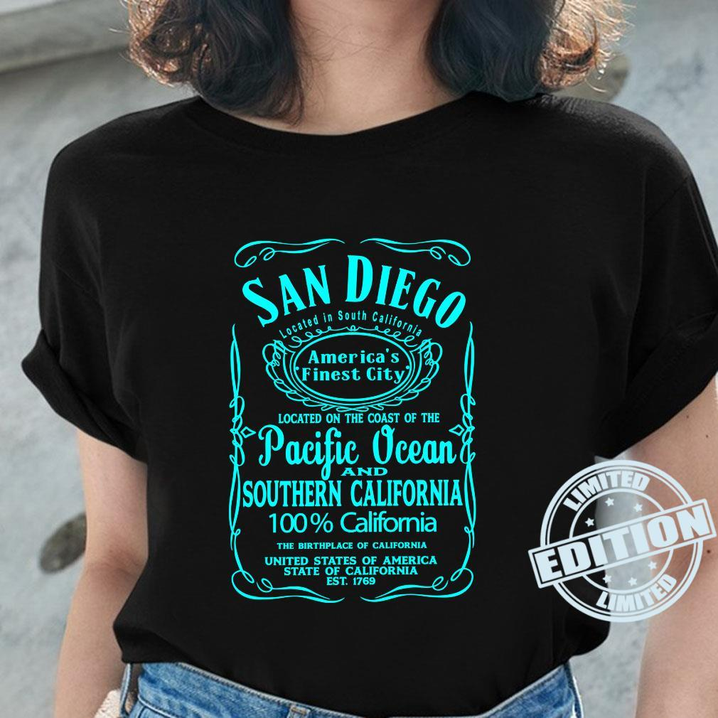 San Diego California USA United States Surfer Beach Sun Fun Shirt ladies tee