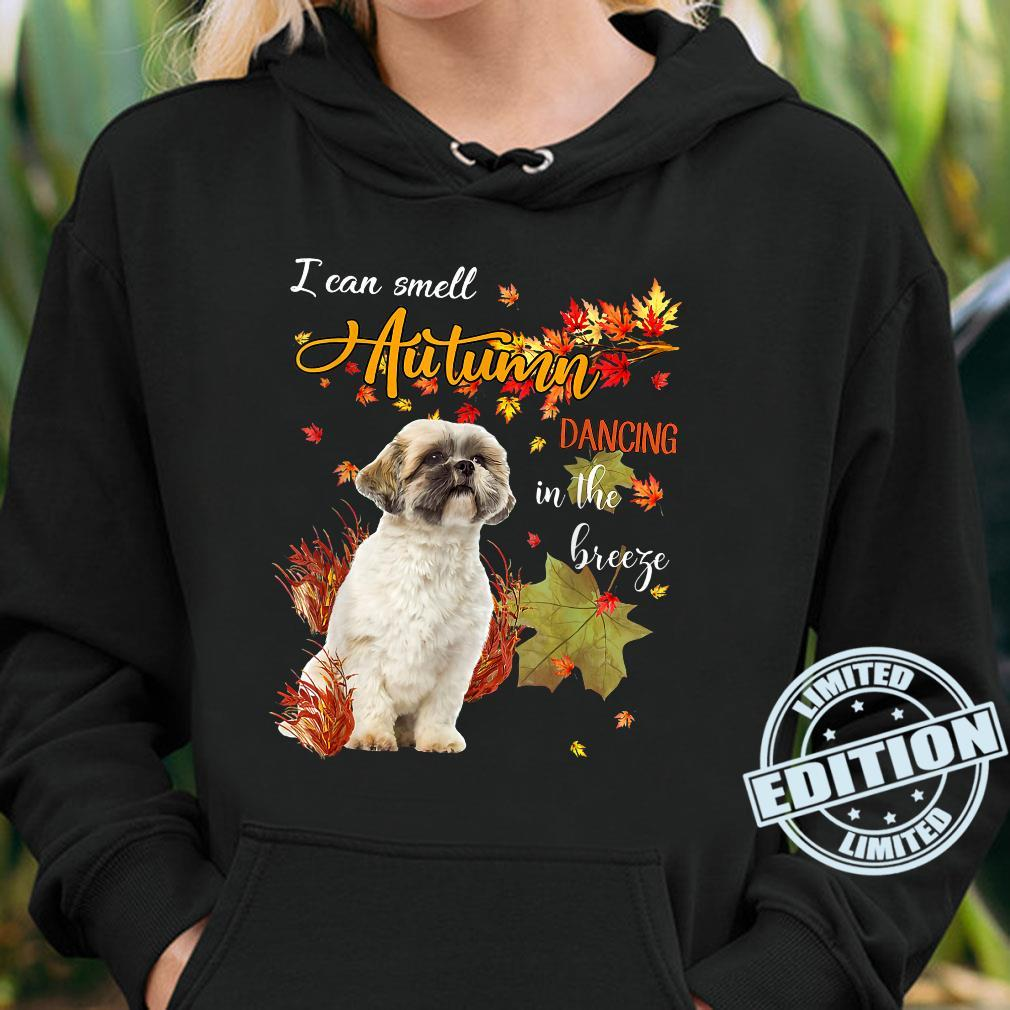 Shih Tzu Dog I Can Smell Autumn Dancing In The Breeze Shirt hoodie