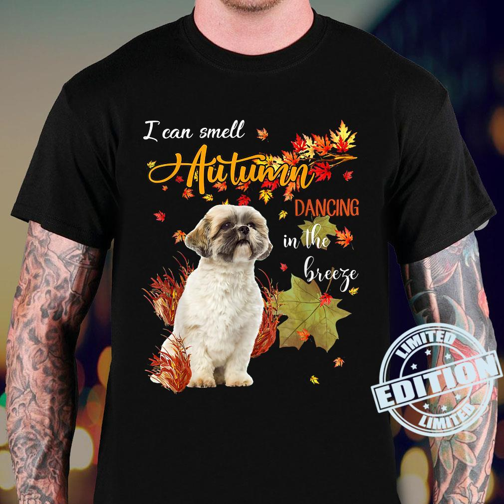 Shih Tzu Dog I Can Smell Autumn Dancing In The Breeze Shirt sweater