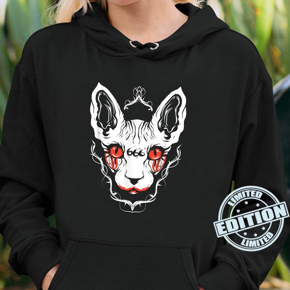 Sphynx Cat Goth Death Metal Occult Pet Shirt hoodie