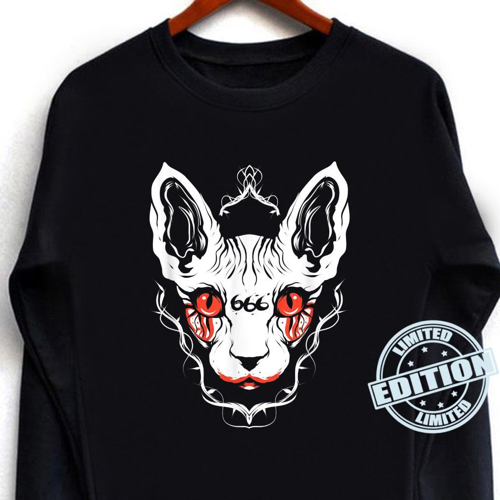 Sphynx Cat Goth Death Metal Occult Pet Shirt long sleeved