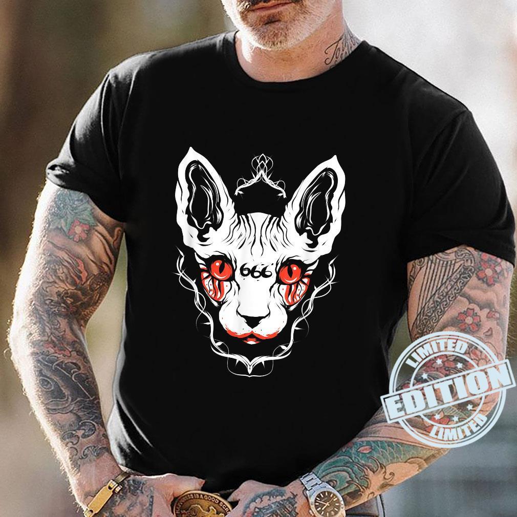 Sphynx Cat Goth Death Metal Occult Pet Shirt