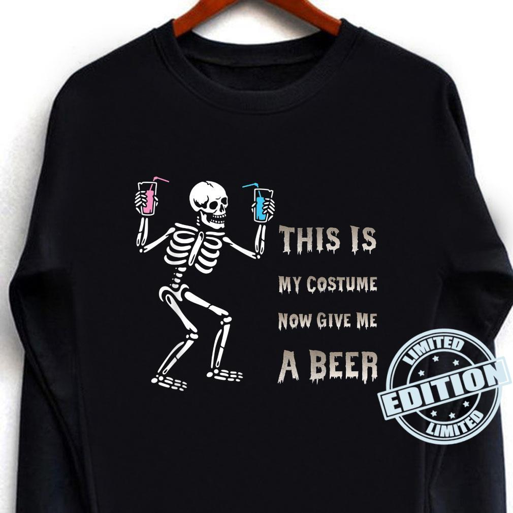 This Is My Costume Now Give Me A Beer Halloween Costume Shirt long sleeved