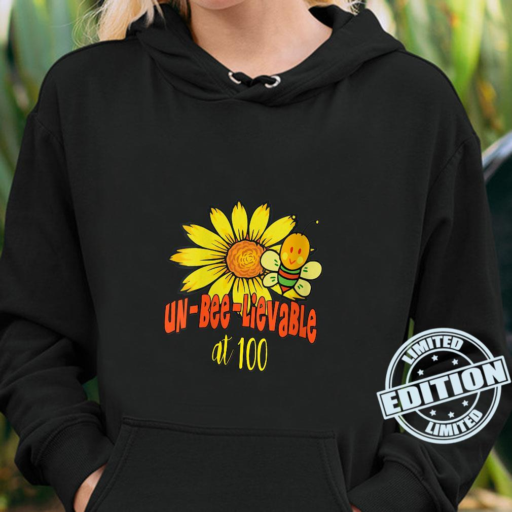 Unbelievable 100th Birthday Cute 100th Birthday Sunflowers Shirt hoodie