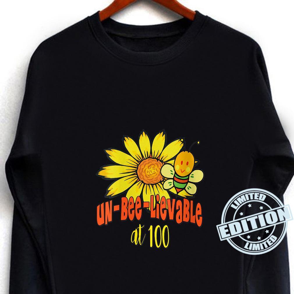 Unbelievable 100th Birthday Cute 100th Birthday Sunflowers Shirt long sleeved