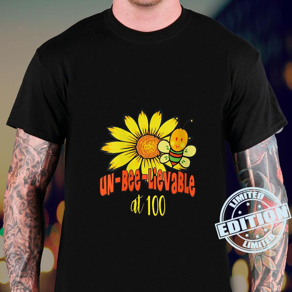 Unbelievable 100th Birthday Cute 100th Birthday Sunflowers Shirt sweater