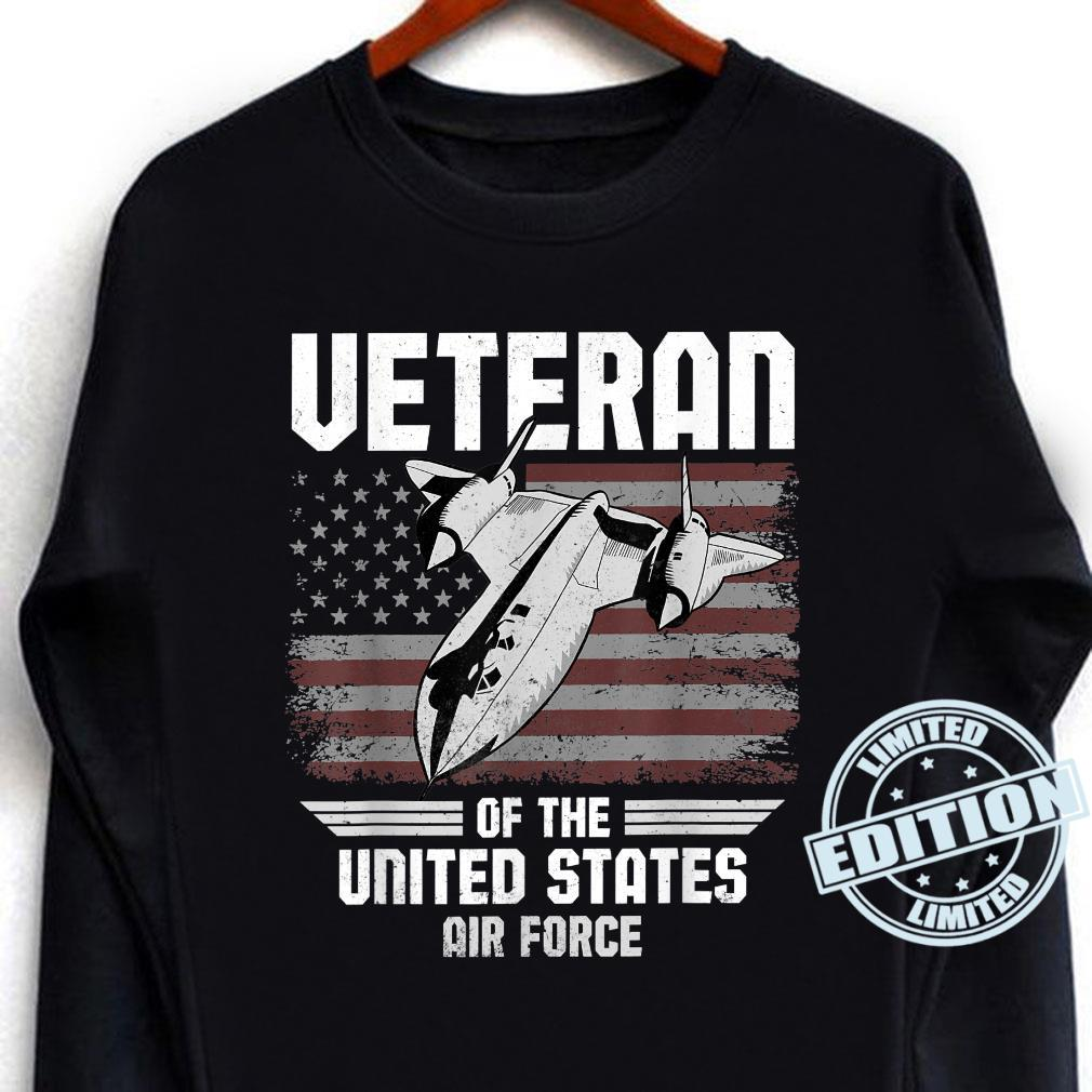 Veteran Of The United States Air Force USAF American Flag Shirt long sleeved
