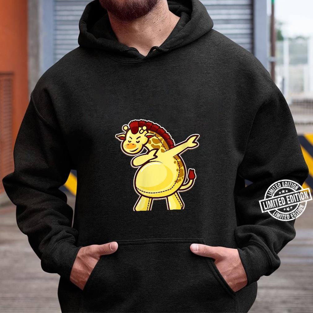 Womens Dabbing Giraffe Cute Dab Dance Zoo Animal Party Shirt hoodie
