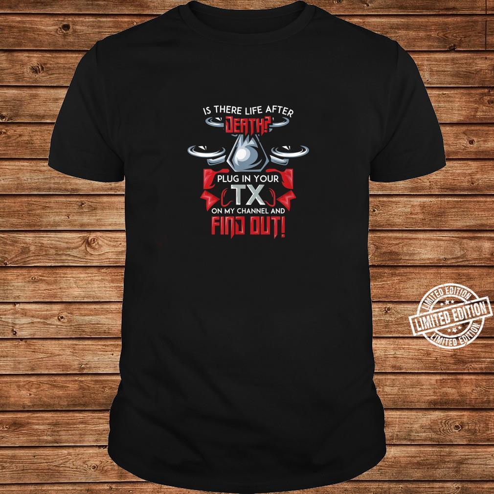 Mens First Person View Drone for a FPV Race Quad Pilot Shirt long sleeved